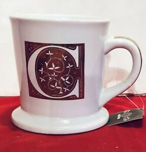 American Atelier GOLD Monogram Initial Letter C  Mug Cup NEW with Tag NICE