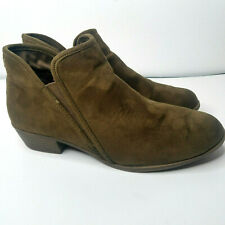 Suede Ankle Booties Womens size 10 Ankle Slip On