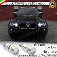 COPPIA LUCI DI POSIZIONE 6 LED T10 CANBUS 6000K BMW X3 E83 BIANCO GHIACCIO