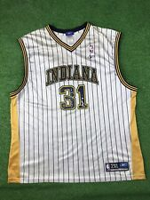NBA Indiana Pacers Reggie Miller # 31 Reebok Jersey Size XXL DISTRESSED
