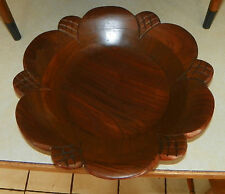 Walnut Carved Nut Bowl Candy Bowl