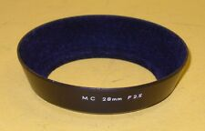 55mm Original Metal Hood for Minolta MC 28mm 1:2,5 in extremely good condition!