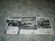 1971 1972 1973 JEEP Ads ( Lot of 3 ads ) Commando model, 232, 258, 304 engines
