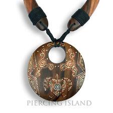 Halskette Anhänger Schildkröte Turtle Holz Amulett N133