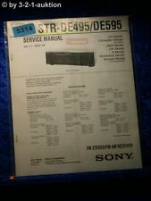 Sony Service Manual STR DE495 /DE595 FM/AM Receiver (#5314)