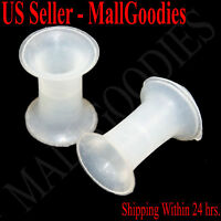0912 Silicone Squishy Soft Clear 4 Gauge 4G Plugs 5mm