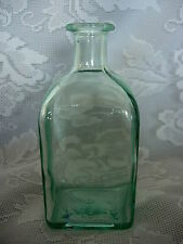Collectible VETRERIA ETRUSCA Lt.Aqua/Green Bottle - Made in Italy