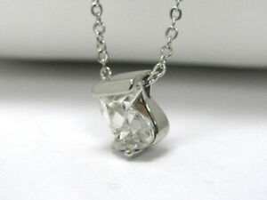 """"""" S """" Letter Initial Swarovski Crystal Necklace Pendant 18"""" Chain FREE SHIPPING"""