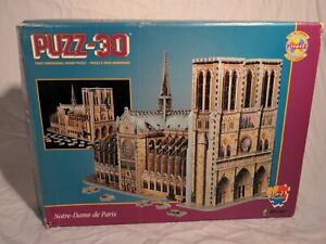 Puzz 3D Notre Dame Cathedral by Wrebbit Unsealed New open box