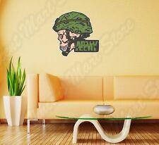 "US Army Soldier Skull Gun Military Wall Sticker Room Interior Decor 22""X22"""
