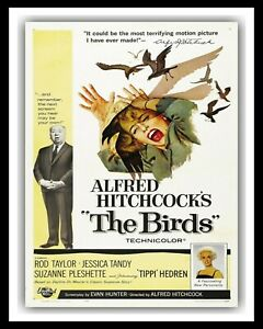 THE BIRDS ALFRED HITCHCOCK CINEMA MOVIE METAL FILM POSTER PLAQUE TIN SIGN 2878