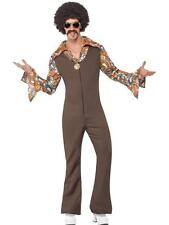 Costume Hippie Groovy Uomo Figlio dei Fiori Anni '60 '70 Carnevale nuovo