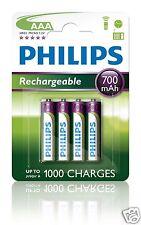 Philips Multi Life NiMH Akku AAA Micro 700 mAh 4er Pack R03B4A70/10