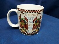 "Vintage Sakura 'Santa's Spirit"" Individual Coffee/Tea Mug Debbie Mumm Design"