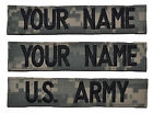 CUSTOM 3 Piece ACU Name Tape Set with Hook Fastener U.S. Army Military