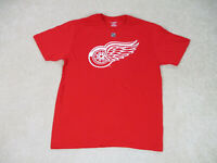 Reebok Detroit Red Wings Shirt Adult Large Red White Hockey Gustav Nyquist Mens