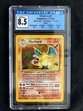 CHARIZARD 4/102 Base Set UNLIMITED Pokemon Card CGC 8.5 NM/MINT+ with SUBGRADES