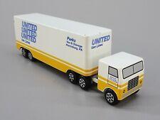 United Van Lines Ralstoy 26 1970s Vintage Moving Van Slush Toy Semi Trailer