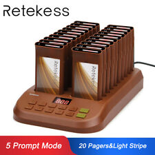 Restaurant Coffee Shop Wireless Paging Queuing Calling System 20XCoaster Pagers