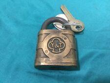 Antique Yale & Towne Padlock w/ Key Blank - 98005 - Locksmith