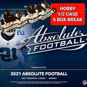 NEW ENGLAND PATRIOTS 2021 ABSOLUTE FOOTBALL HOBBY 1/2 CASE 6 BOX BREAK #1