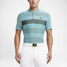 Nike Momentum Fly Swing Knit Stripe Alpha Men's Golf Polo Shirt 2XL Blue New