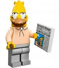 The Simpsons Lego collectible minifig Abe / Grampa Simpson + newspaper