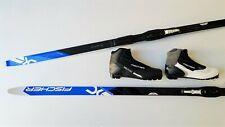 Langlaufski Set No Wax Ski Fischer Summit Bdg Schuhe Schuppenski 179 cm 49>59kg