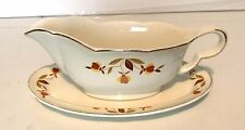 Hall's Superior Autumn Leaf  2-piece Set Gravy Boat And Under Plate
