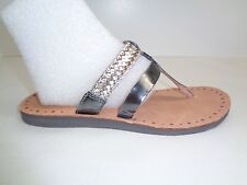 UGG Australia Size 8 AUDRA Sterling Leather Braid Sandals New Womens Shoes