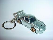 NEW 3D SILVER PORSCHE 993 TURBO CUSTOM KEYCHAIN keyring key racing BLING fast