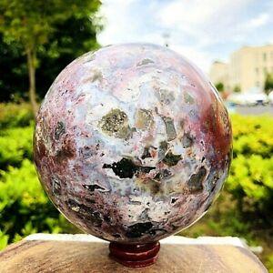3.88LB Natural Ocean Jasper Quartz Sphere miracle sea stone Ball Healing ZQ50