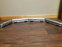 Ho Scale Tyco Amtrak. Engine, Combine Passenger And Observation  Lighted