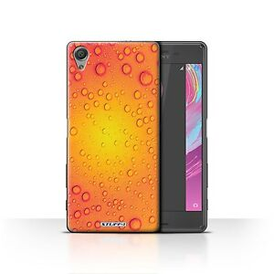 STUFF4 Case/Cover for Sony Xperia X/Water Droplets/Purple/Orange