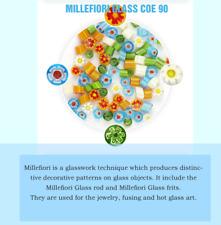 500g Mixed color Millefiori kiln glass Coe 90 Flower pattern hot melt glass art