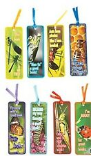 Pack of 8 - Insects Bugs Laminated Bookmarks - Party Bag Fillers