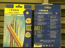 Lyra Super Ferby Metallic Colored Pencil 12 Piece 6.25 mm Lead, Assorted Colors