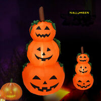 Halloween Inflatable Stacked Pumpkins w/ LED Lights Blow Up Yard Decoration USA