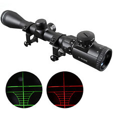 CVLIFE 3-9X40e R&G Illuminated Mil-dot  Hunting Rifle Scope w/ Free 20 mm Mount