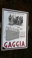 """QUADRO A SPECCHIO PUBBLICITA' """"GAGGIA 1902-1952"""" VINTAGE ORIGINALE ANNI '80"""