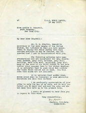 W. M. GROSE - TYPED LETTER SIGNED 05/19/1917