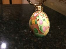 "Patricia Breen Miniature Egg ""Easter Egg Tree With Girl Rabbit� Spring Ornament"