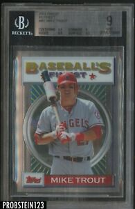 2013 Topps Finest 1993 Mike Trout Angels BGS 9 w/ 9.5
