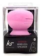 KITSOUND Wireless Sucker Portable Splash-Proof Universal Bluetooth Pink Speaker