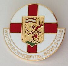 Whitchurch Hospital Bowling Club Badge Pin Rare United Kingdom Vintage (M12)