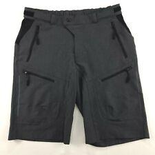 Hiauspor MTB Mens Mountain Bike Shorts Loose Fit Biking Cycling Size M Gray
