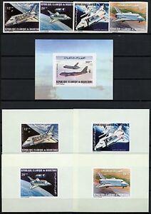 Space Raumfahrt 1981 Mauritania Mauretanien 715-718 Block 31 + Deluxe U MNH/1155