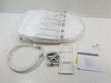 Bio Bidet Slim Zero-Non Electric Bidet Seat for Elongated Toilet, White