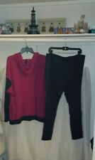 Chaps Fuchsia and Navy Hoodie set. Oversized relaxed fit. Bright fuchsia, pink,