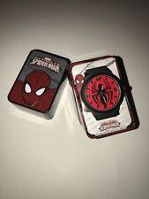 Spiderman Watch With Metal Logo'd Tin Box